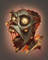 Zombie brains by edsfox
