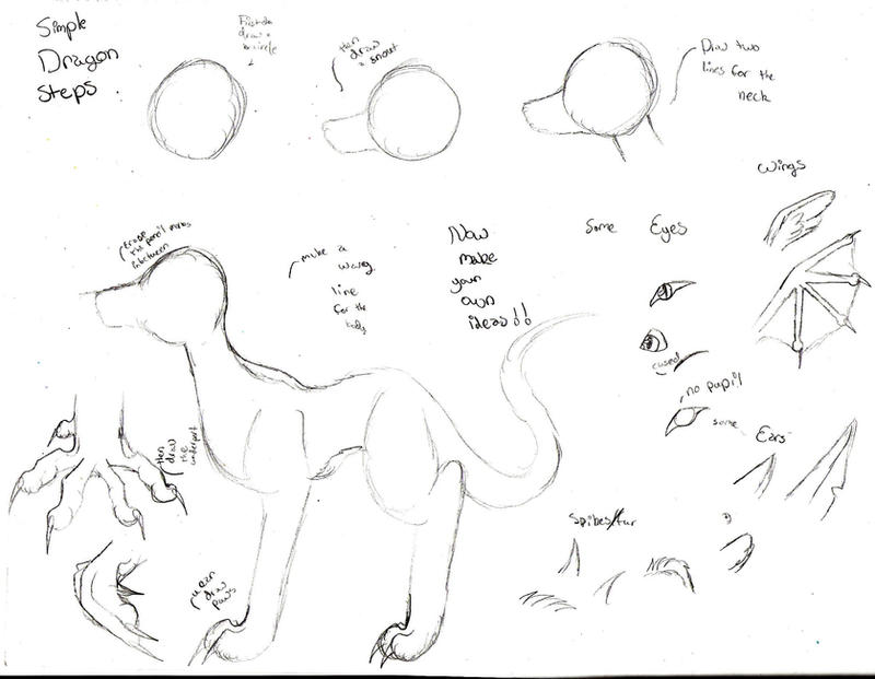 How to draw a dragon simp step by gothwolfgurl13