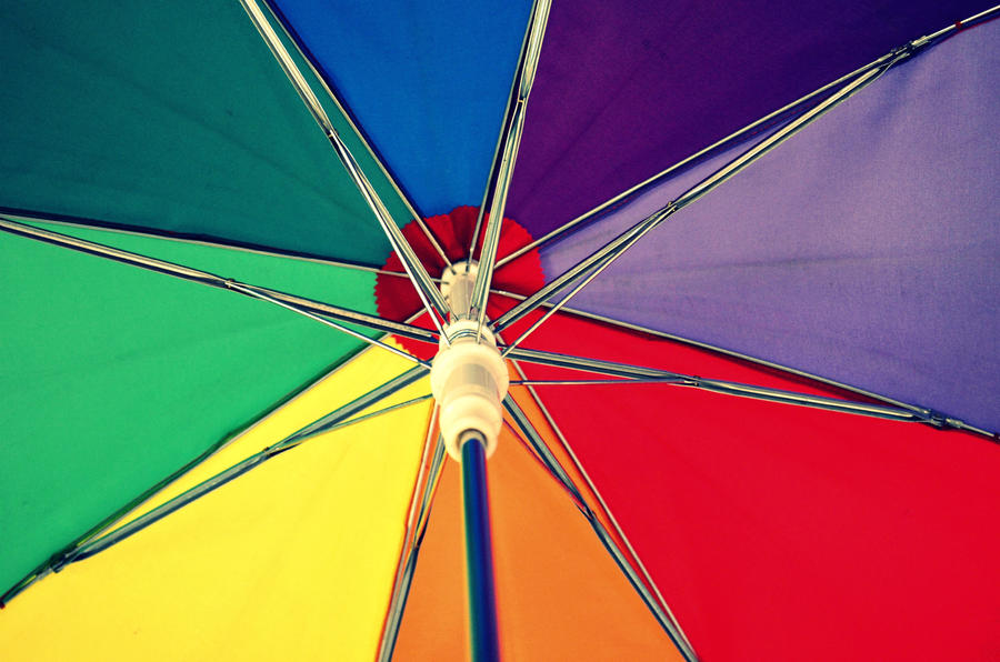 The umbrella of many colours by diamondaria