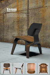 Eames molded plywood chair poster