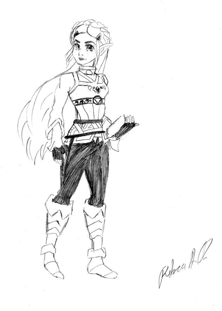 Princess Zelda Breath of the Wild by Reberv