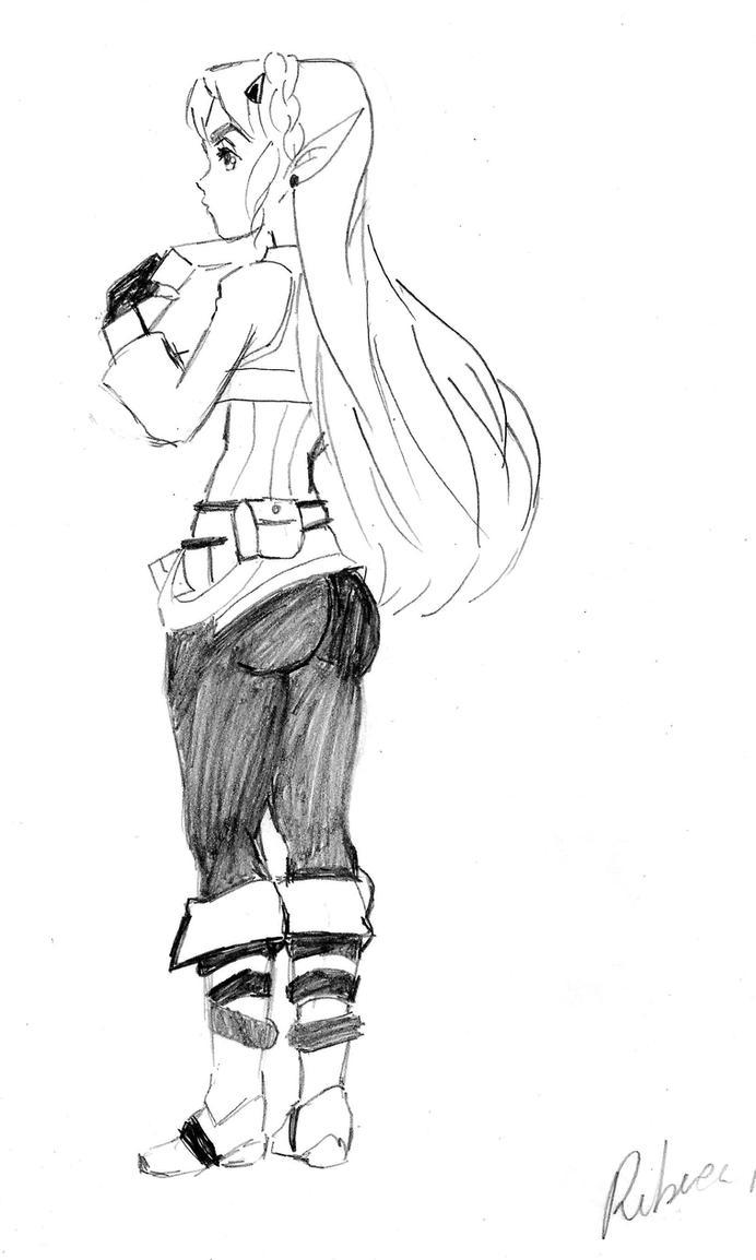 Princess Zelda BoTW - mandatory booty shot by Reberv