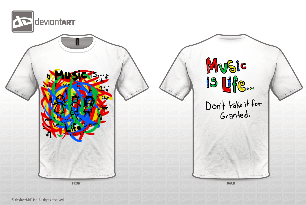Music design challenge t shirt design by poofiecheeks on Music shirt design ideas