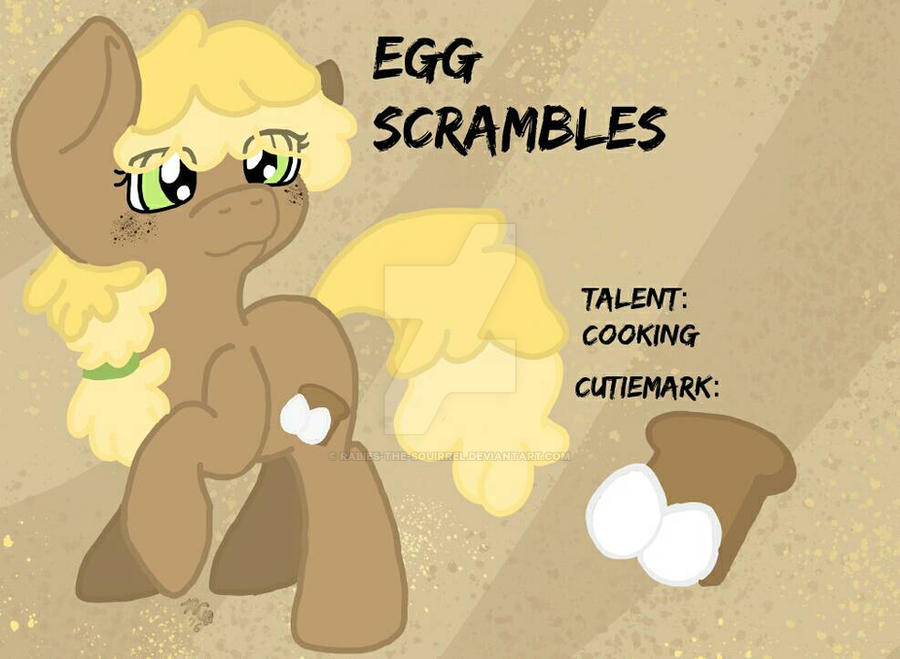 OC: Egg Scrambles by Rabies-the-Squirrel
