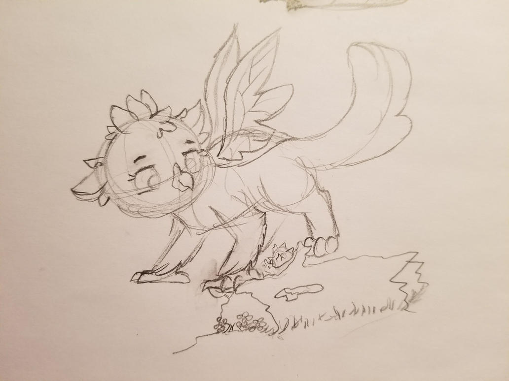 The Changeling Griffon but this time as a child by Rabies-the-Squirrel