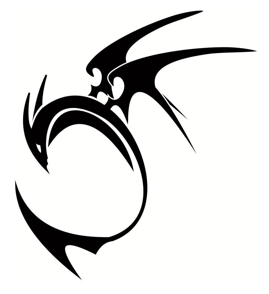 Tribal dragon pixi by ovanreed on deviantart - Dessin dragon simple ...