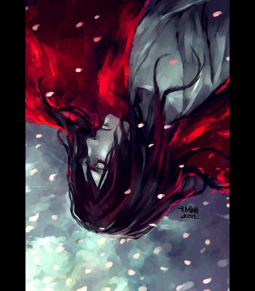a fallen petal by NanFe