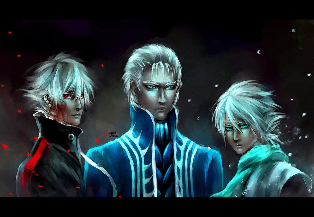 The 3 White Badasses by NanFe