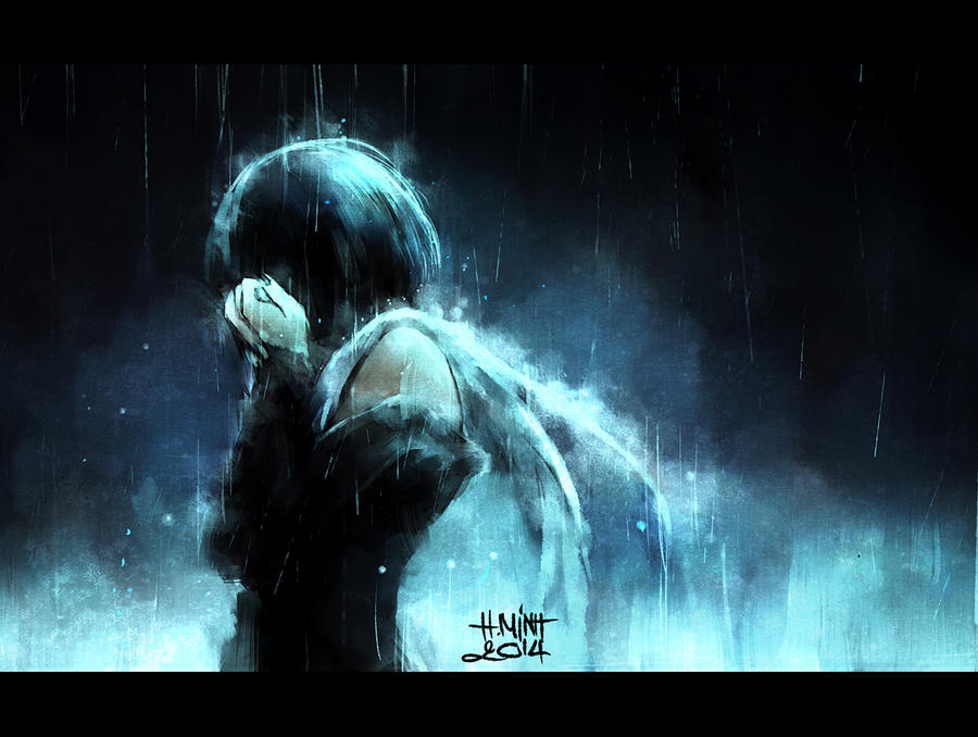 a story in the rain by NanFe