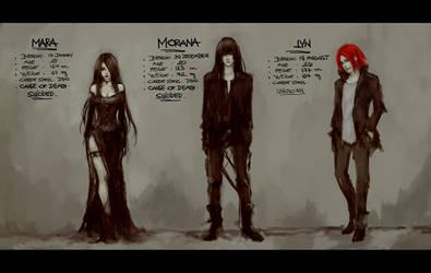 characters sheet by NanFe