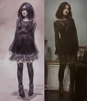 lovely black by NanFe