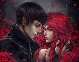 Night Roses by NanFe
