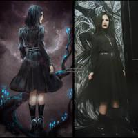 dark school OOTD by NanFe