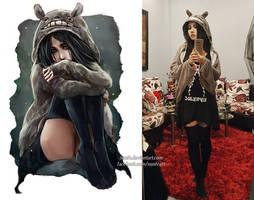 this Totoro cloak OOTD