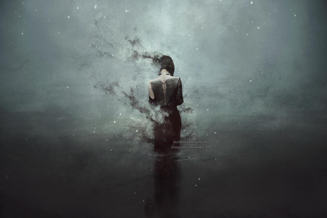 I dream of a night sky full of stars by NanFe