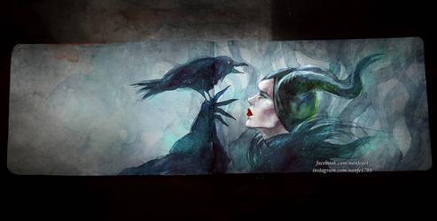 Inktober Day 23: Maleficent by NanFe