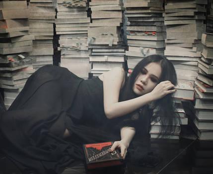 asleep in books