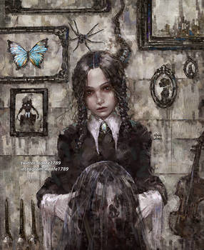 Portrait of The Addams's Daughter