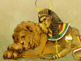SPN_Dean Egypt 1 by mad-samurai