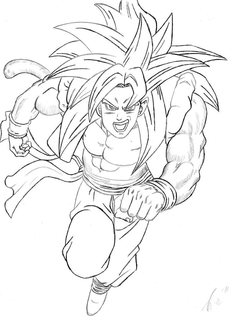 gogeta ssj4 coloring pages - super saiyan 4 gogeta by infjart on deviantart