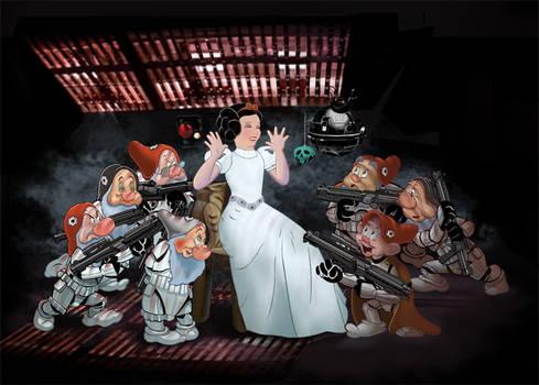 Snow White n 7 Stormtroopers
