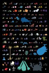 Alola Pokedex Pokemon to scale by DOTBstudios
