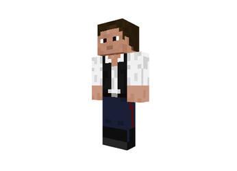 Minecraft Han Solo Skin by MJMorgan