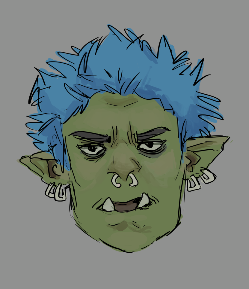 Punk Orc Guy by prosthetic0shipping