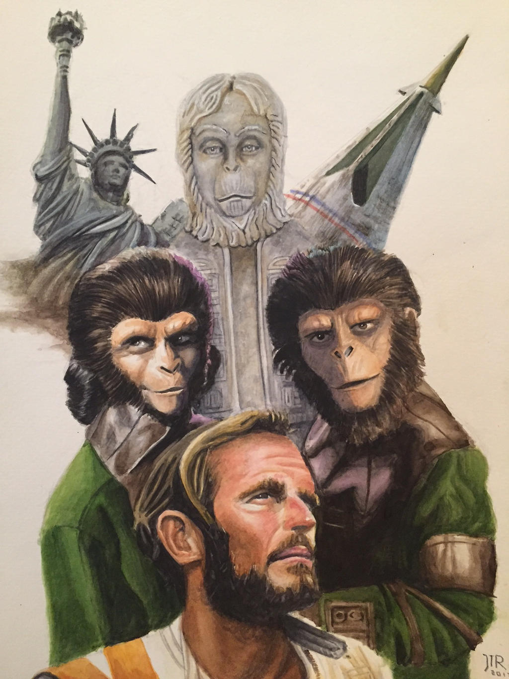 Planet of the Apes Watercolor