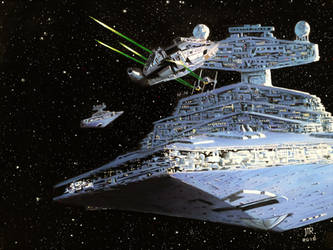 The Millennium Falcon Chase by JTRIII