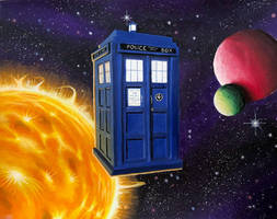 TARDIS Flight (no lightning) by JTRIII