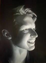 Aidan in Black and White