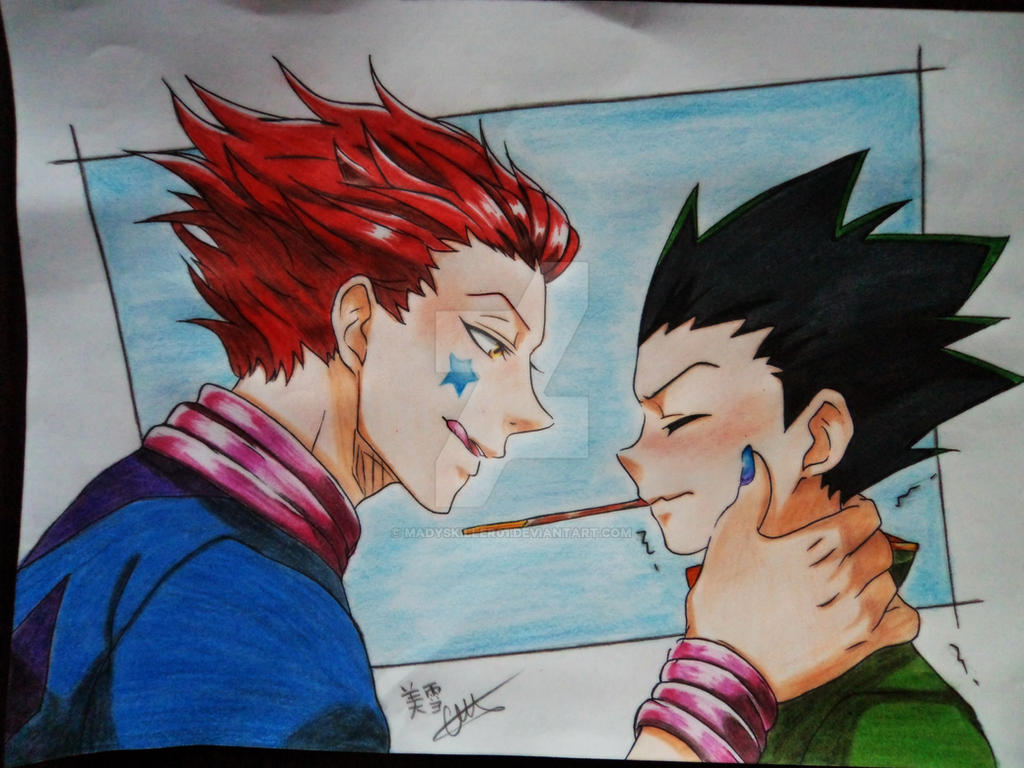 hisoka and gon freecss from hunter x hunter by madyskiller01 on