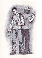 LOST: Jack and Sawyer by studiomeridian