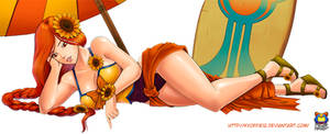 Leona Pool Party by Kyoffie12