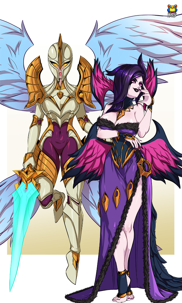 Morgana and kayle by Kyoffie12