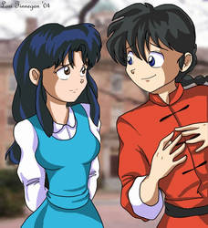 Akane and Ranma by irishgirl982