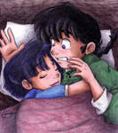 Ranma and Akane... snuggling? by irishgirl982