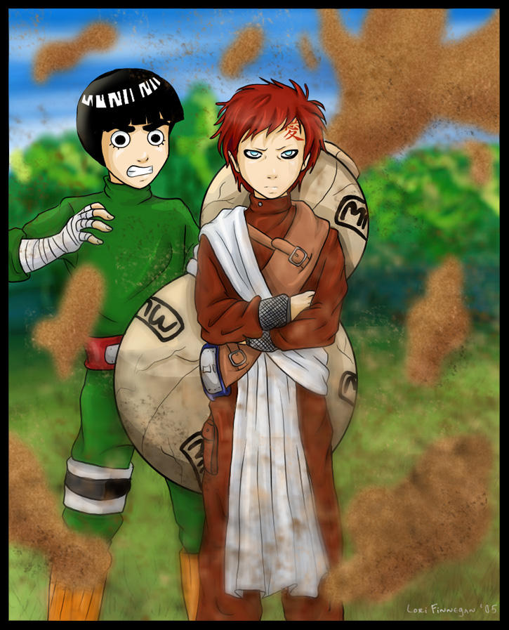 Naruto - Lee and Gaara by irishgirl982 on DeviantArt Gaara And Lee