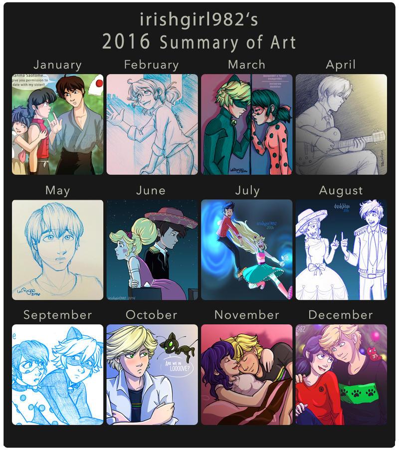 2016 Summary of Art by irishgirl982
