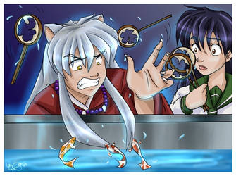 Inuyasha vs. The Fish by irishgirl982