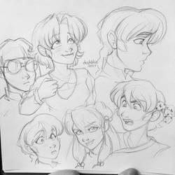 Ranma Sketch Dump by irishgirl982