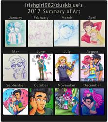 2017 Summary of Art by irishgirl982