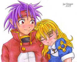 Chrono and Rosette by irishgirl982