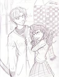 Draco and Hermione by irishgirl982