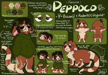 Peppoco - Fursona 2019 Reference by Peppoco