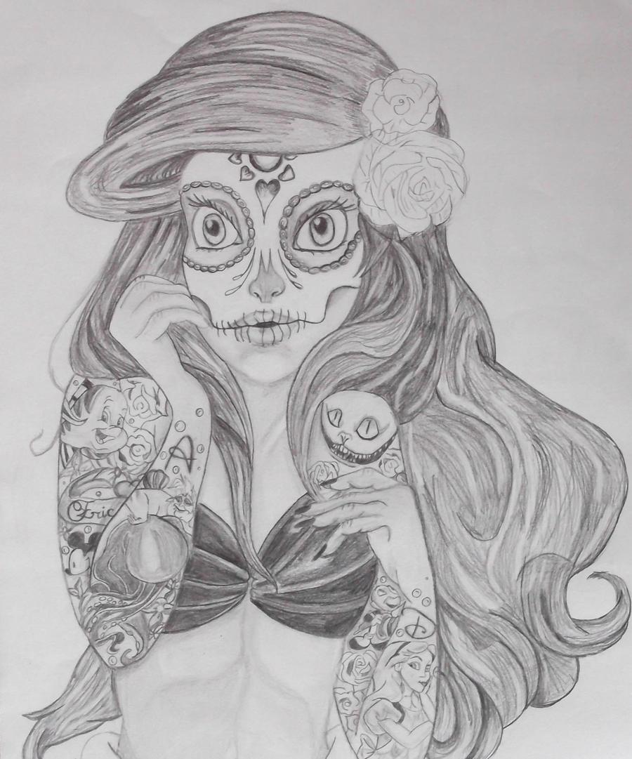 sugar skull coloring pages princess - photo#37