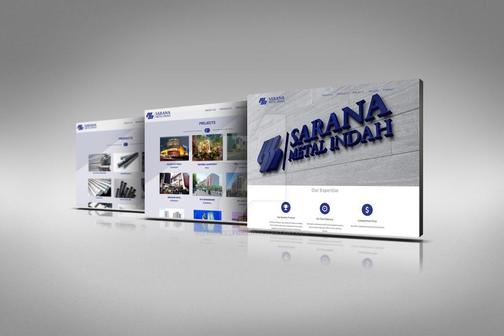Web Design for Sarana Metal Indah by delonixbranding