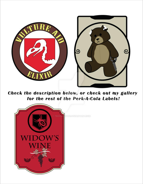 image relating to Printable Perk a Cola Labels named Perk A Cola Labels Deviantart ✓ Satu Sticker