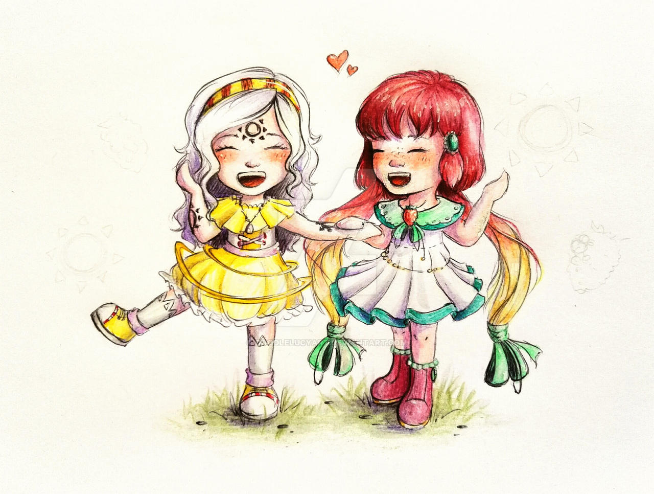 Oriennie and Malene by DoodleLucyArt